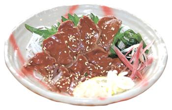 ▲馬肉の「レバー炙り」(1080円)