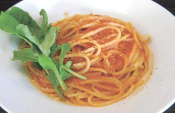 ▲パスタの一例「カニとトマトのクリームパスタ