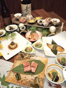 ▲8000円コース料理の一例