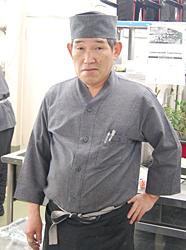 料理長の菊池傳治さん