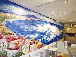 アーティストの越ちひろさんが描いたナポリの風景