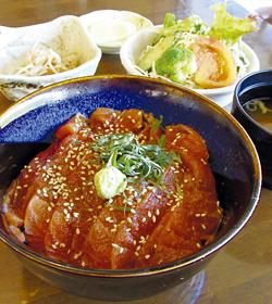 「佐久穂町佐々木さんの信州サーモン丼定食」