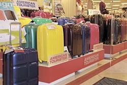 アメリカンツーリスターのキャリーケースなどが色、形、サイズ豊富にそろう「+MOOVE」