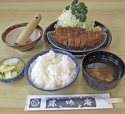 「ロースかつ定食」1400円
