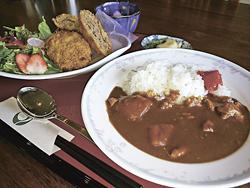 「鹿肉メンチカツカレー」(1296円)