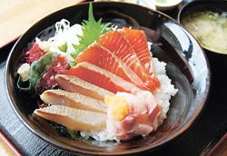 新メニューの「こいするシナノサーモン丼」(ランチ限定)