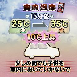 炎天下の車内温度に注意