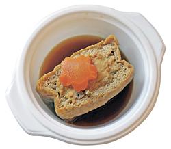 「自家製鶏つくねの栃尾揚つつみ」(390円)