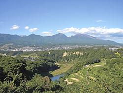 庭から見る景色