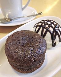 自家製ケーキ「フォンダンショコラ」(500円)
