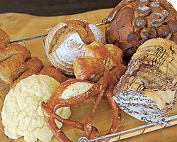 さまざまな種類のパンがそろう