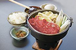 蓼科牛すき焼き御膳(1350円)