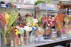 豊富な花材