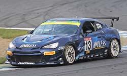 展示するレーシングカーの「ENDLESS86」