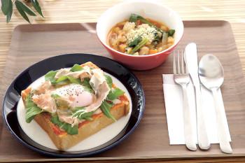 スープセット(ピザトースト&ミネストローネ)