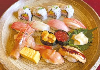 ▲「板前おすすめ寿司」。すしメニューは当日受け付け可能