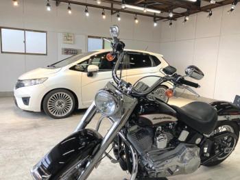 ▲車だけでなくバイクの施工も可能